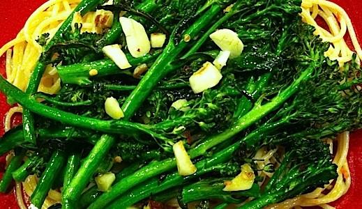 Brocollini and pasta